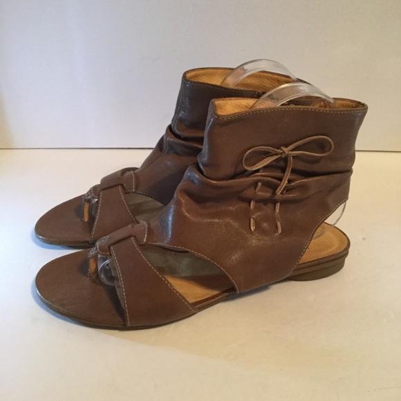 9f9c50342ed Paul Green Soft Slouchy Leather Sandals 7 7.5 Boho